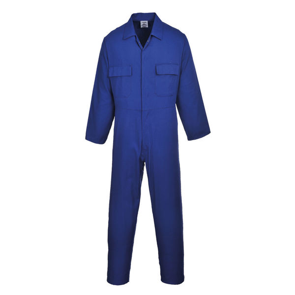 Euro-Work-Polycotton-Coverall-Royal-Blue-S999