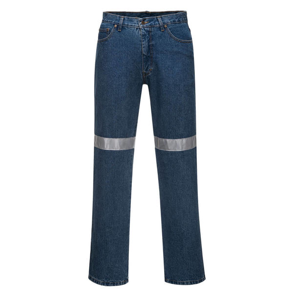 Denim-Pants-with-Tape-Blue-MW169