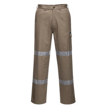 Cargo-Pants-with-Double-Tape-Khaki-MD701