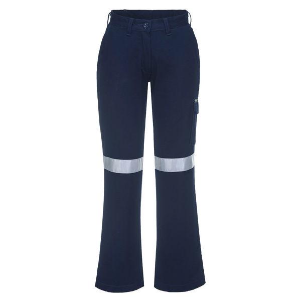 Ladies-Cargo-Pants-with-Tape-Navy-ML709