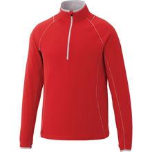 TM17809-KNEW-Knit-Half-Zip-Mens-Team-Red-Silver
