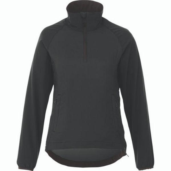 TM92802-ODARAY-HalfZip-Lightweight-Jacket-Women-Black-Smoke