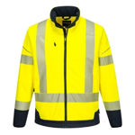 T404-PW3-Hi-Vis-Contrast-Softshell-Yellow-Navy