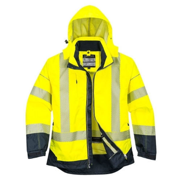 T403-PW3-Hi-Vis-Breathable-Jacket-Yellow-Navy