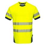 T183-PW3-Hi-Vis-T-Shirt-Yellow-Navy