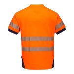 T183-PW3-Hi-Vis-T-Shirt-Orange-Navy-Back