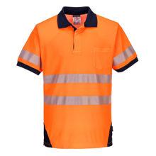 T182-PW3-Hi-Vis-Polo-Shirt-Orange-Navy