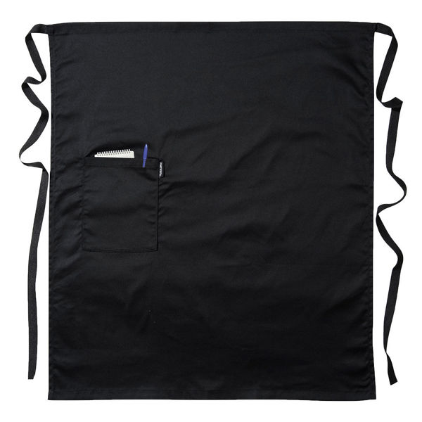 S794-Waist-Apron-with-Pocket-Black