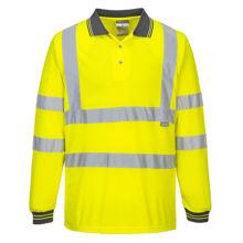S277-Hi-Vis-Long-Sleeved-Polo-Yellow