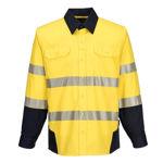 PW372-PW3-Shirt-Yellow-Navy