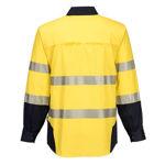 PW372-PW3-Shirt-Yellow-Navy-Back