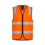 MZ105-Traffic-Controller-Zip-Vest-DN-Orange