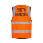 MZ105-Traffic-Controller-Zip-Vest-DN-Orange-Back