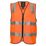 MZ106 -Visitor-Zip-Vest-DN-Orange
