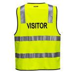 MZ106 -Visitor-Zip-Vest-DN-Yellow-Back