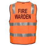 MZ104-Fire-Warden-Zip-Vest-DN-Orange-Back