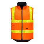 MY214-Polar-Fleece-Vest-with-Micro-Prism-Tape-Orange