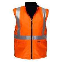 MX214-Cross-Back-Polar-Fleece-Reversible-Vest-Orange