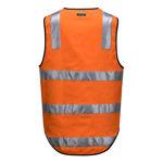 MW338-100%-Cotton-DayNight-Vest-Orange-Back