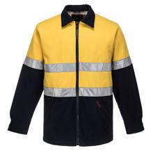 MW028-Wool-Blend-Bluey-Jacket-Yellow-Navy-Blue