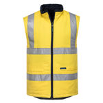 MV278-100%Cotton-Reversible-Vest-Yellow