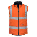 MV278-100%Cotton-Reversible-Vest-Orange
