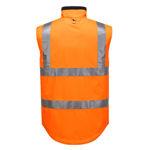 MV214-Polar-Fleece-Reversible-Vest-Orange-Back