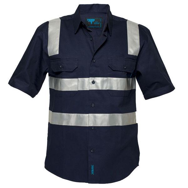 MS909-Brisbane-Shirt-Short-Sleeve-Regular-Weight-Navy-Blue
