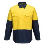 MS901-Hi-Vis-Two-Tone-Regular-Weight-Long-Sleeve-Shirt-Yellow-Navy