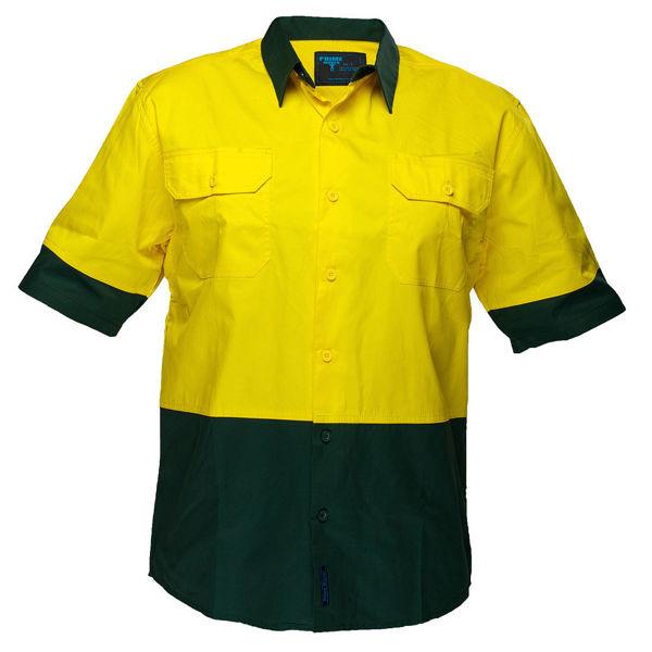 MS802-Hi-Vis-Two-Tone-Lightweight-Short-Sleeve-Shirt-Yellow-Green