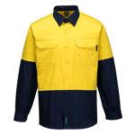 MS801-Hi-Vis-Two-Tone-Lightweight-Long-Sleeve-Shirt-Yellow-Navy