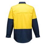 MS801-Hi-Vis-Two-Tone-Lightweight-Long-Sleeve-Shirt-Yellow-Navy-Back