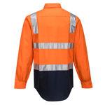 MS101-Hi-Vis-Two-Tone-Regular-Weight-Shirt-with-Tape-Over-Shoulder-Orange-Navy-Back
