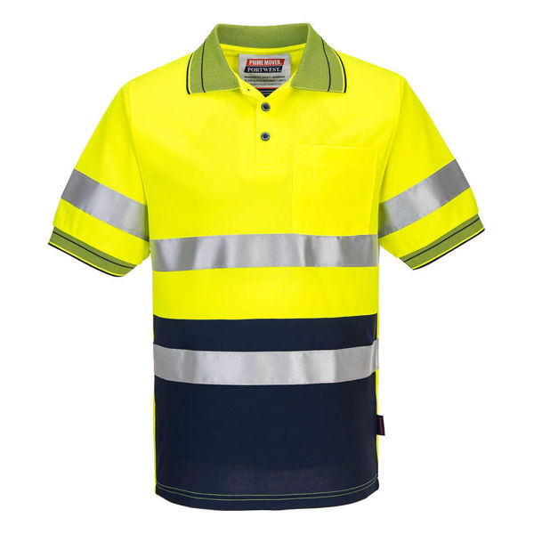 MP510-Short-Sleeve-Micro-Mesh-Polo-with-Tape-Yellow-Navy