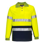 MP513-Long-Sleeve-Micro-Mesh-Polo-with-Tape-Yellow-Navy