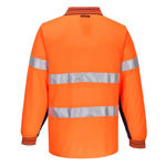MP513-Long-Sleeve-Micro-Mesh-Polo-with-Tape-Orange-Navy-Back