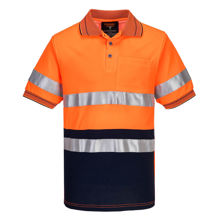 MP310-Short-Sleeve-Cotton-Comfort-Polo-with-Tape-Orange-Navy