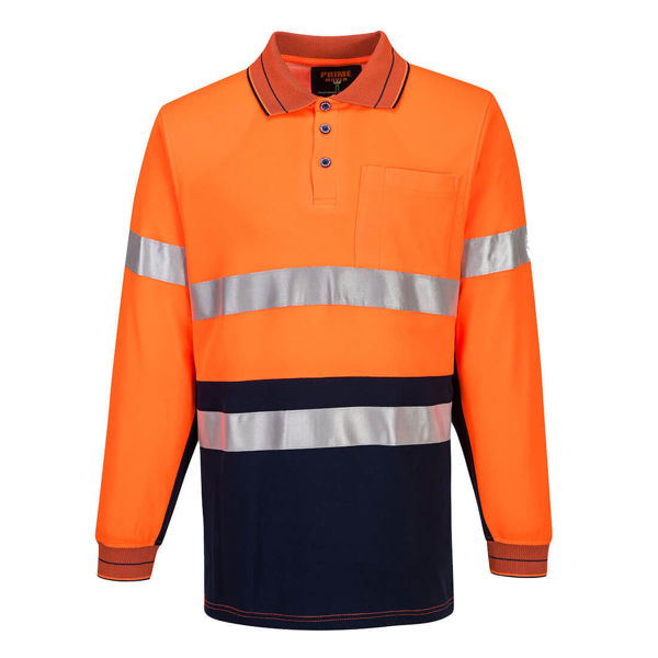 MP313-Long-Sleeve-Cotton-Comfort-Polo-with-Tape-Orange-Navy