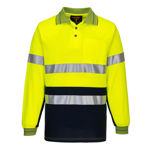 MP313-Long-Sleeve-Cotton-Comfort-Polo-with-Tape-Yellow-Navy