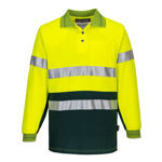 MP313-Long-Sleeve-Cotton-Comfort-Polo-with-Tape-Yellow-Green