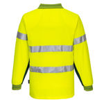 MP313-Long-Sleeve-Cotton-Comfort-Polo-with-Tape-Yellow-Green-Back