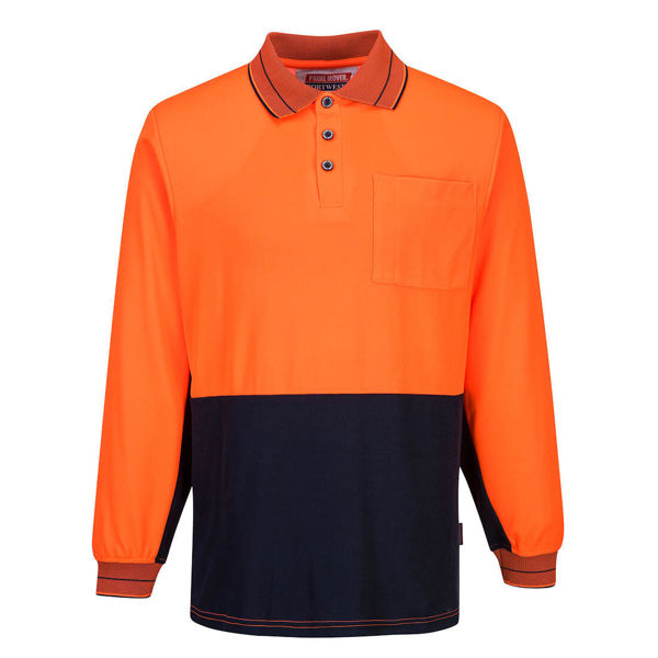 MP213-Long-Sleeve-Cotton-Comfort-Polo-Orange-Navy