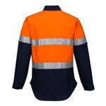 ML108-Ladies-2Tone-Regular-Weight-Long-Sleeve-Shirt-with-Tape-Orange-Navy-Back