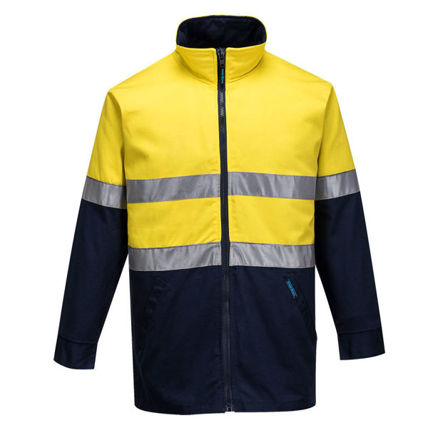 MJ998-Hume-100%-Cotton-Drill-Jacket-Yellow-Navy
