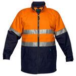 MJ998-Hume-100%-Cotton-Drill-Jacket-Orange-Navy