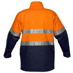 MJ998-Hume-100%-Cotton-Drill-Jacket-Orange-Navy-Back