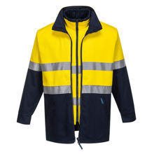 MJ777-Hume-100%-Cotton-4-in-1-Jacket-Yellow-Navy