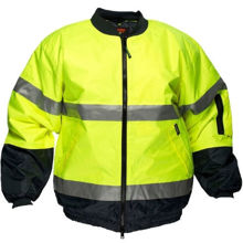 MJ504-Hi-Vis-Bomber-Jacket-with-Tape-Yellow-Navy