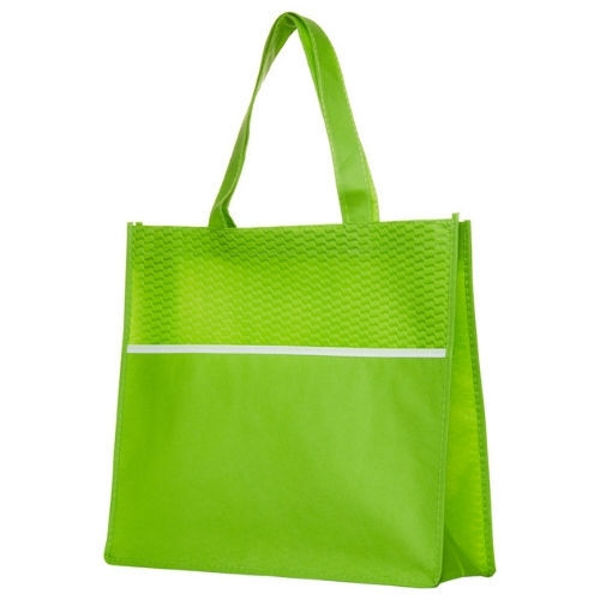 B563-Shopping-Tote-Bag-with-Waves-LimeGreen