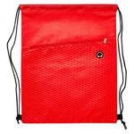B561-Waves-Drawstring-Bag-Red